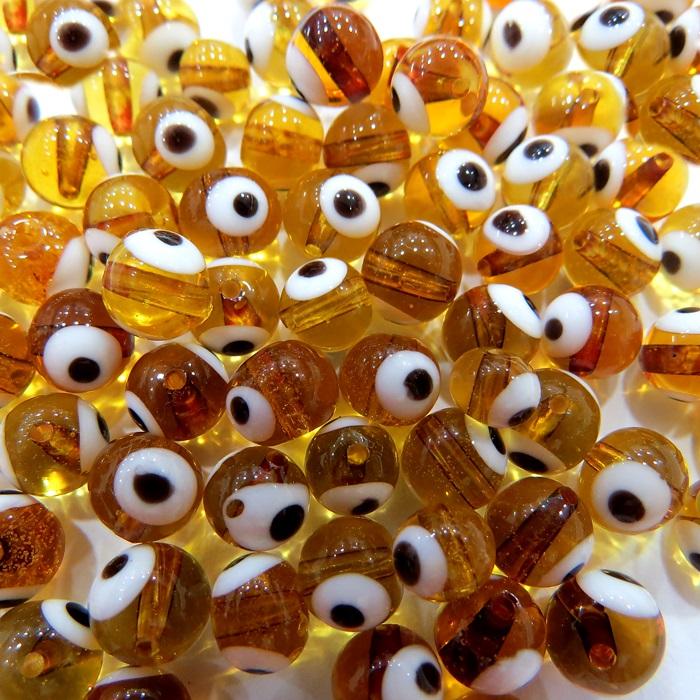 Olho grego ambar Nº 08 (1.000 unidades)- OG021 ATACADO