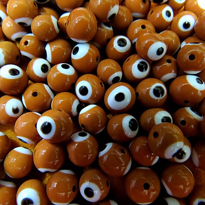 Olho grego marrom Nº 08 (1.000 unidades)- OG024 ATACADO