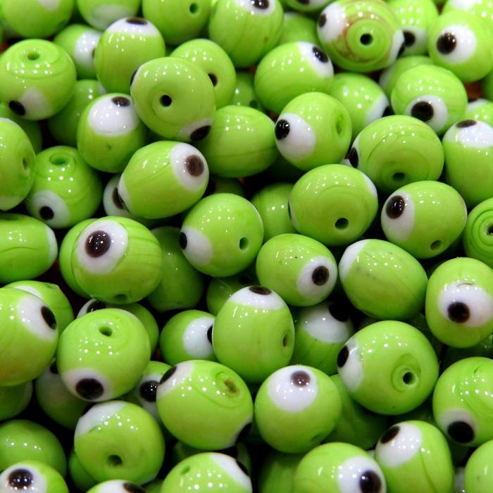 Olho grego verde pistache Nº 08 (1.000 unidades)- OG025 ATACADO