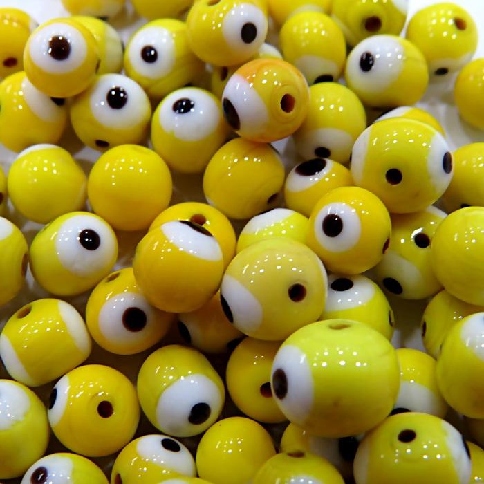 Olho grego amarelo Nº 10 ( 1.000 unidades)- OG040 ATACADO