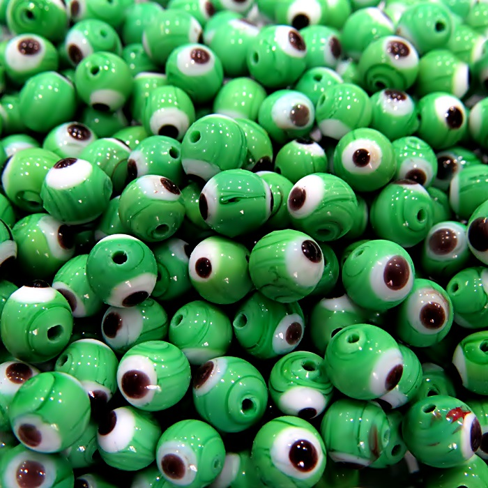 Olho grego verde  Nº 10 (20 unidades)- OG048