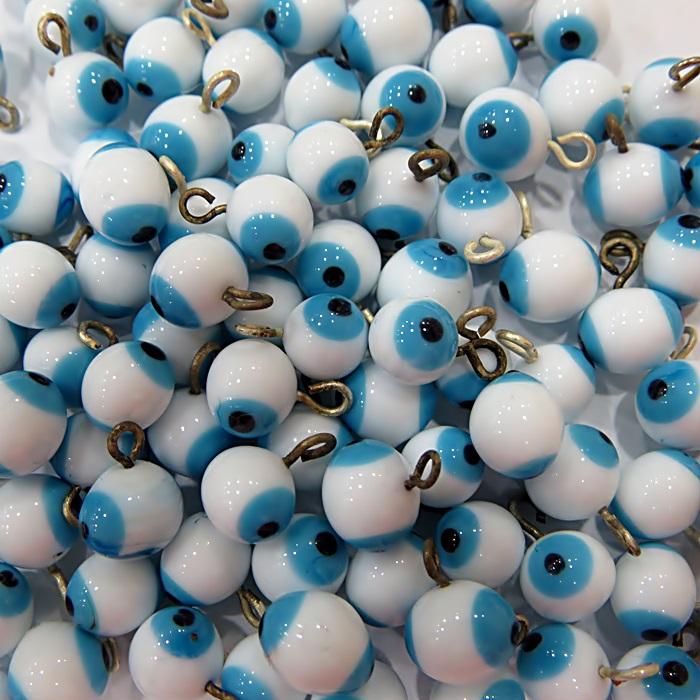 Olho grego pingente branco (20 unidades)- OGP002