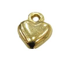Pingente Dourado Coração Achatado -10 peças PDT054
