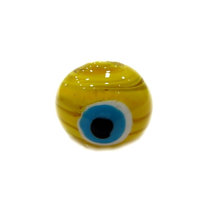 Olho grego M amarelo/ turquesa- OG055