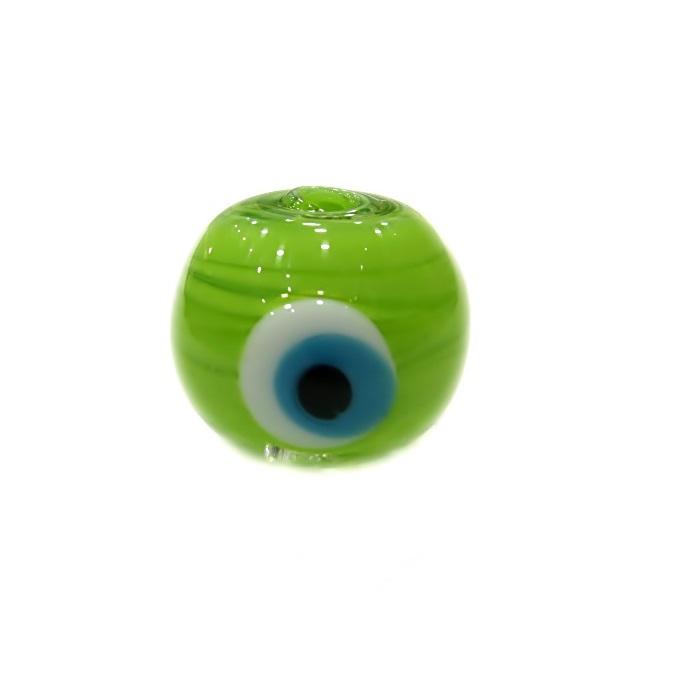Olho grego M verde pistache/ turquesa- OG057