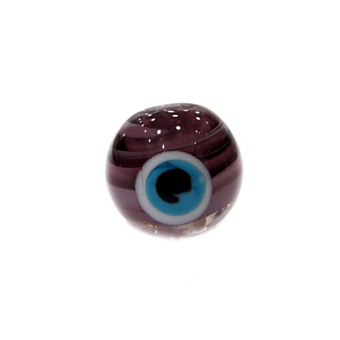 Olho grego M roxo/ turquesa- OG058