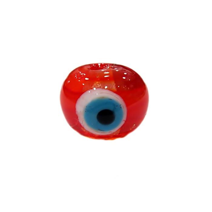 Olho grego M vermelho/ turquesa- OG061