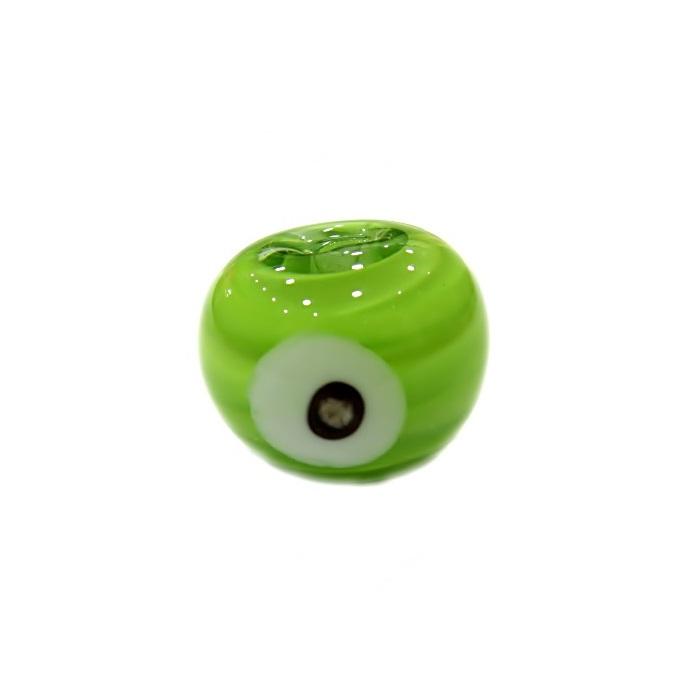 Olho grego M verde pistache- OG065