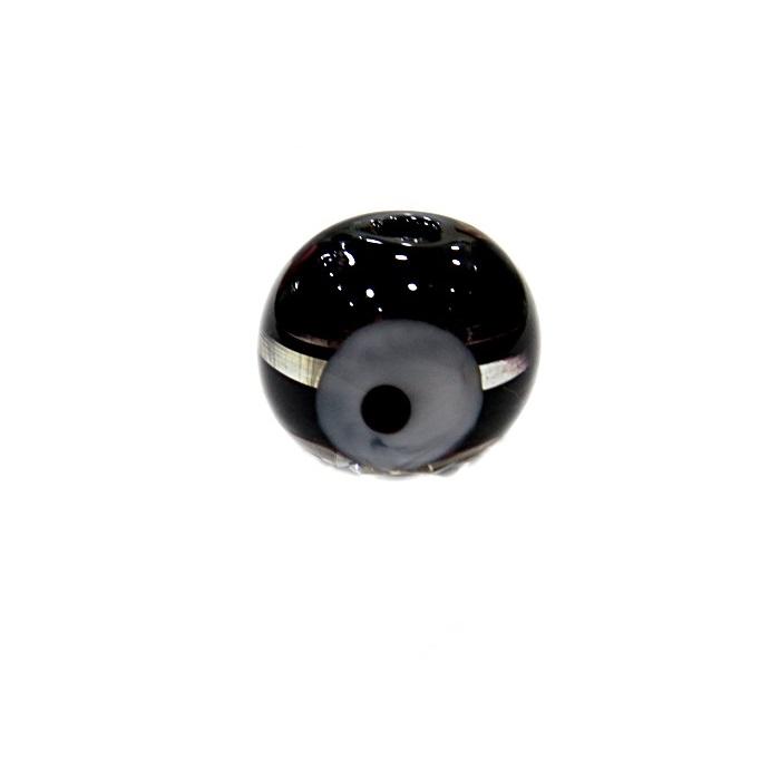 Olho grego M preto- OG066