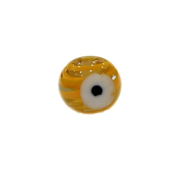 Olho grego M amarelo gema- OG070