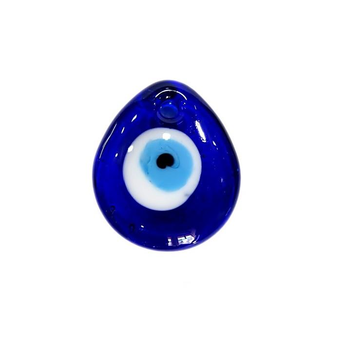 olho grego pingente gota pequena azulão- OGP015