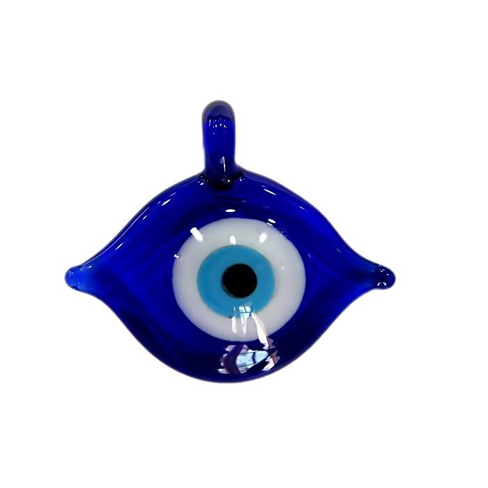 Olho grego puxado/ relevo pingente azulão- OGP019