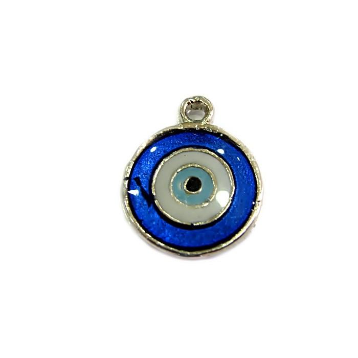 Pingente olho grego níquel azulão- PTN104