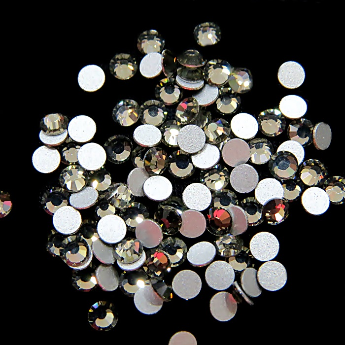 Chaton de cristal black diamond SS12 (20 unidades)- CCH001