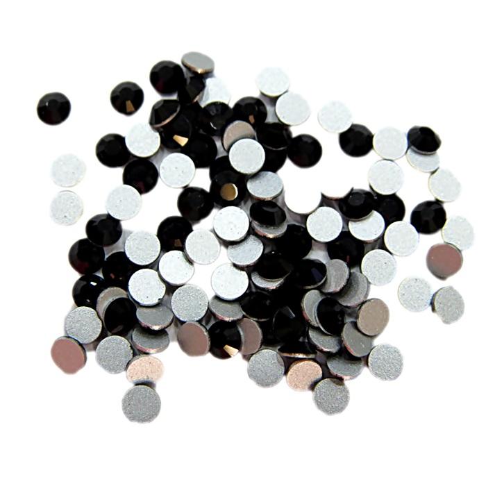 Chaton de cristal preto SS12 (100 unidades)- CCH012 ATACADO