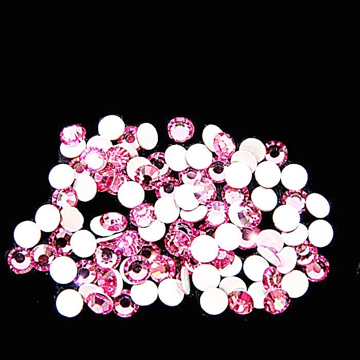 Chaton de cristal light rose SS12 (100 unidades)- CCH013 ATACADO