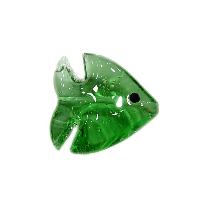 Peixe de murano verde transparente (10 unidades)- MU615