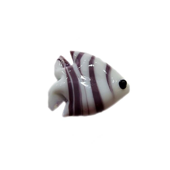 Peixe de murano branco/ lilás (10 unidades)- MU621