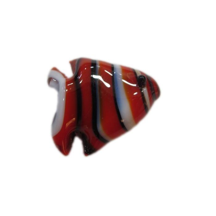 Peixe de murano vermelho/ preto/ branco (10 unidades)- MU629