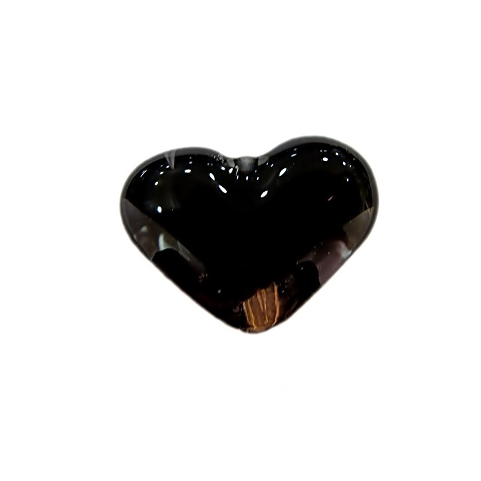 Coração de murano pequeno preto- MU650
