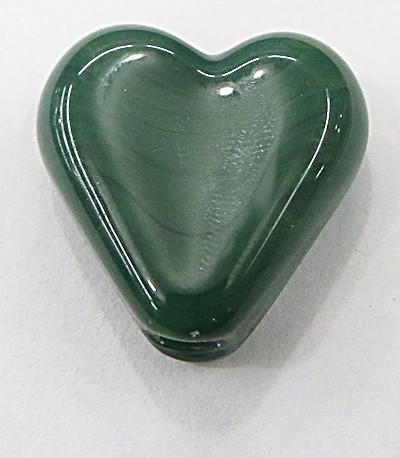 Coração de murano pequeno verde Bandeira Leitoso - MU651