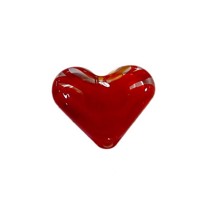 Coração de murano pequeno vermelho- MU660