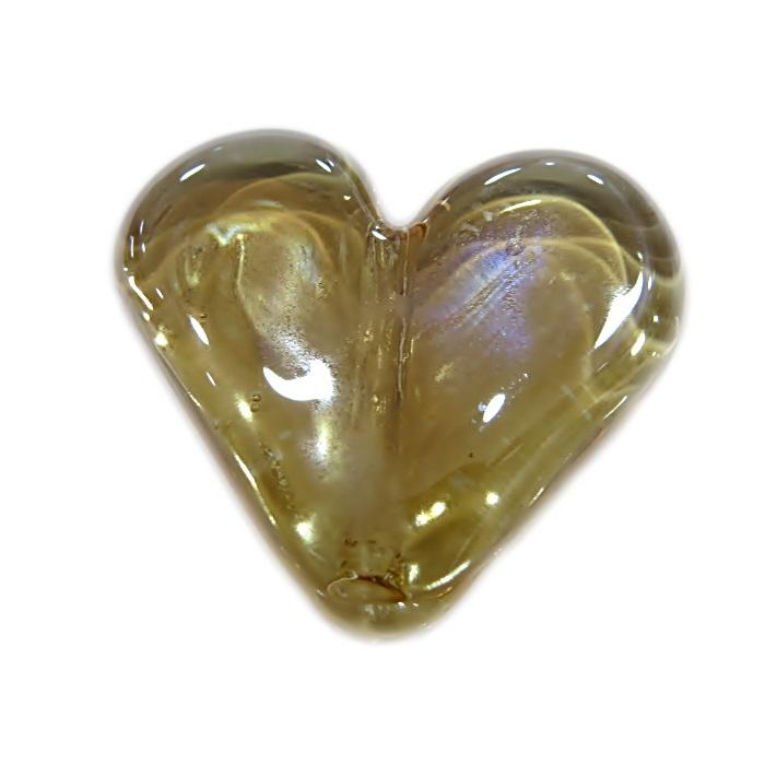 Coração de murano grande cristal irisado - MU661