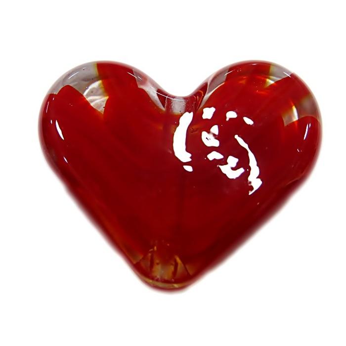 Coração de murano grande vermelho- MU666