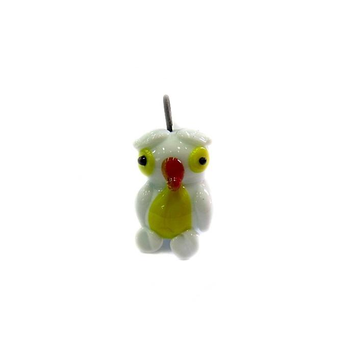 Coruja de murano branca- MU671