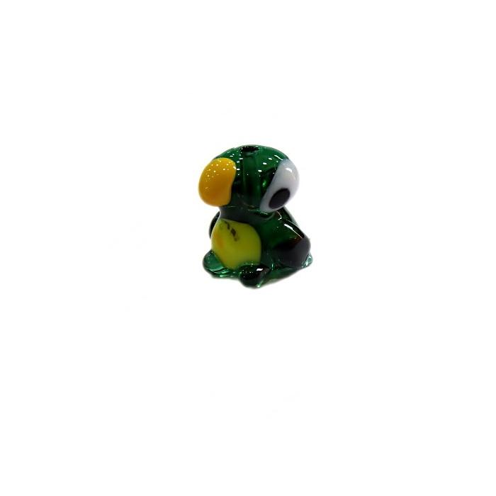 Papagaio de murano verde (05 unidades)- MU673
