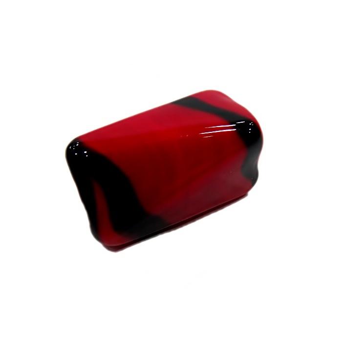 Facetado de murano GG vermelho/ preto- MU585