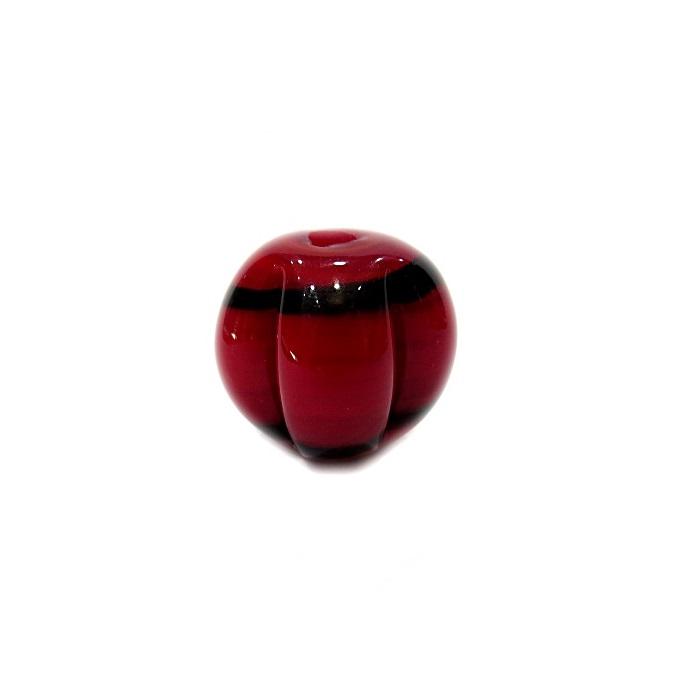 Pitanga de murano GG vermelha/preto- MU393
