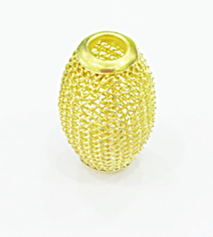 Berloque Dourado Azeitona Renda BED011