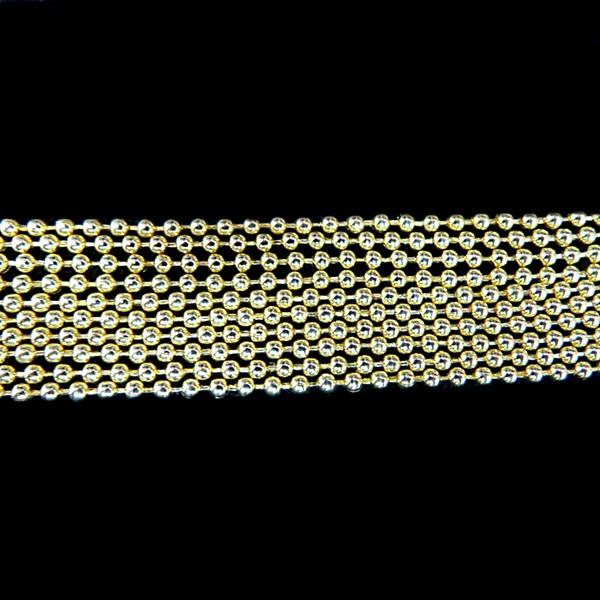Corrente dourada de bolinha 2,5 (10 metros)- COD010