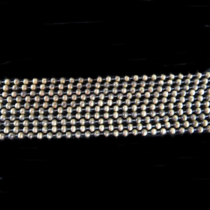 Corrente ouro velho de bolinha M (10 metros)- COO010