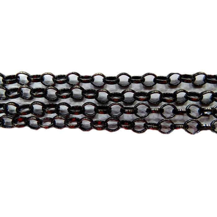 Corrente grafite oval (10 metros)- CPE005