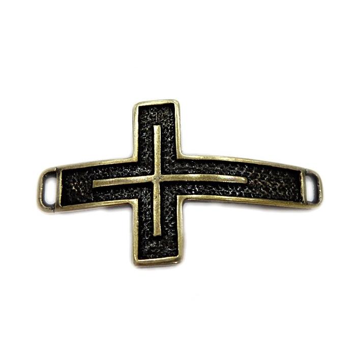 Entremeio ouro velho cruz dupla- EO053