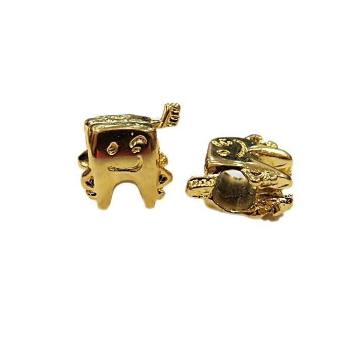Berloque dourado dente- BED059
