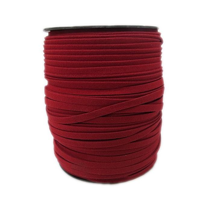 Camurça 5mm vermelho (100 metros)- CG002 ATACADO
