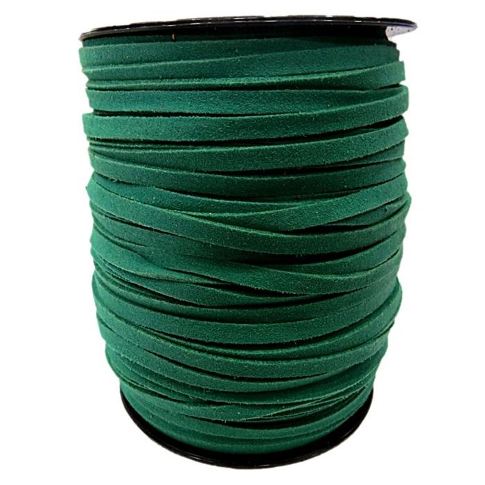 Camurça 5mm verde (100 metros)- CG08 ATACADO