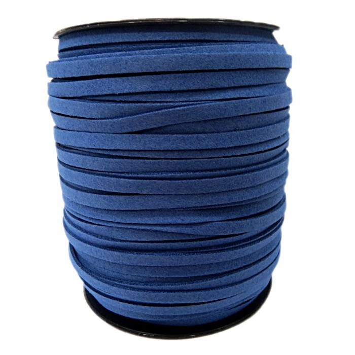 Camurça 5mm azul bic (100 metros)- CG010 ATACADO
