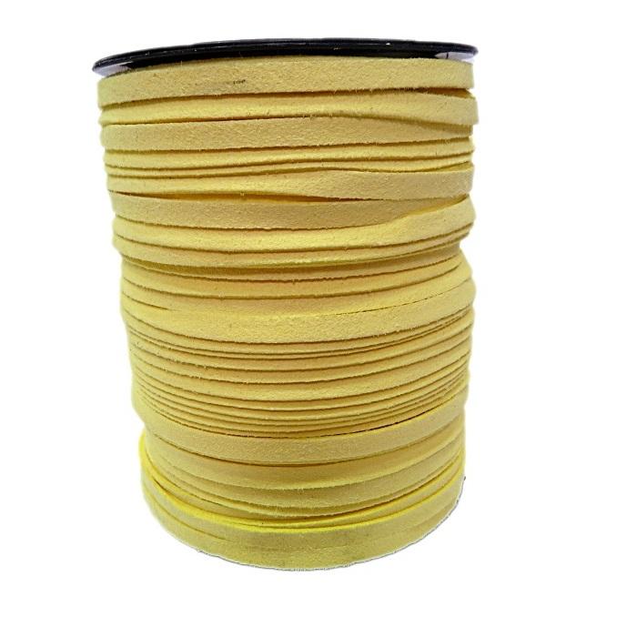Camurça 5mm amarelo (100 metros)- CG011 ATACADO