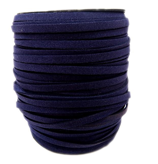 Camurça 4mm azul Marinho (100 metros)- CG017 ATACADO