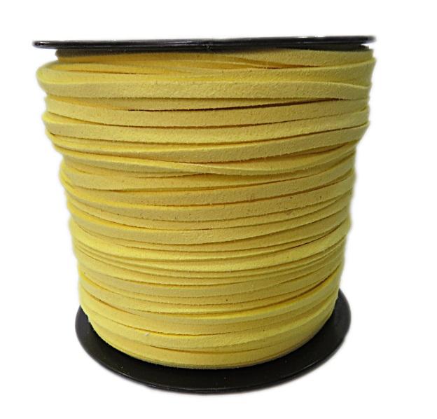 Camurça 3mm amarelo (100 metros)- CG030 ATACADO