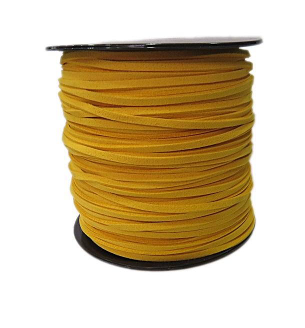 Camurça 3mm amarelo escuro (100 metros)- CG031 ATACADO