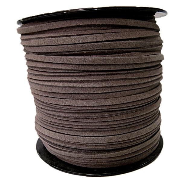 Camurça 3mm cinza escuro (10 metros)- CG034