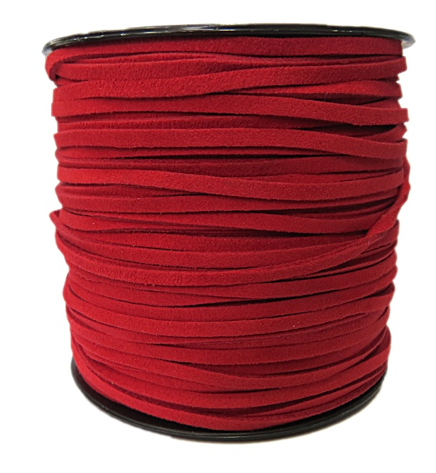 Camurça 3mm vermelho (10 metros)- CG038