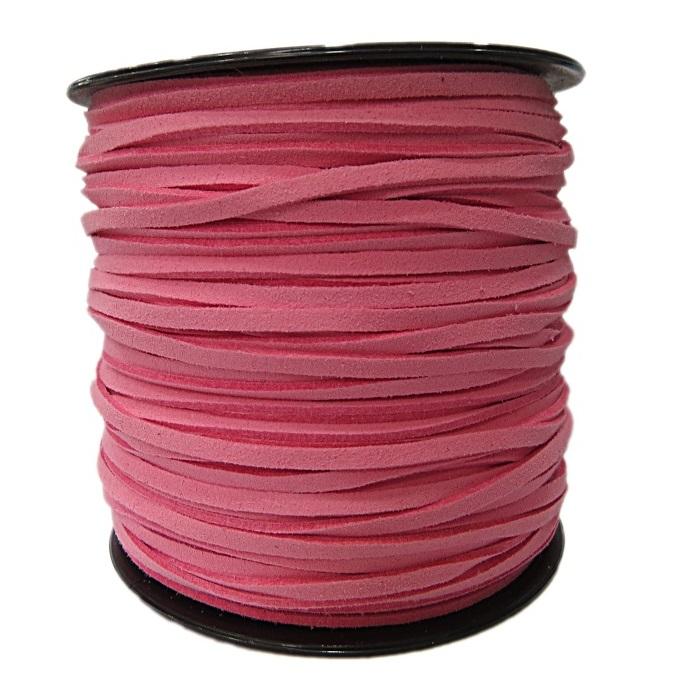 Camurça 3mm rosa bebe (100 unidades)- CG040 ATACADO