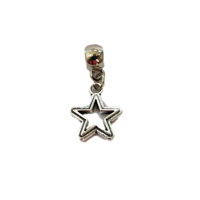 Berloque Niquel Estrela Vazada  BEN056