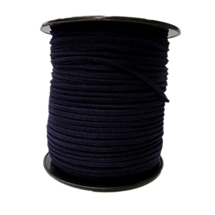 Camurça 3mm Azul Marinho Escuro (100 metros)- CG044 ATACADO